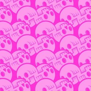 Skulluxe pink scalloped skulls