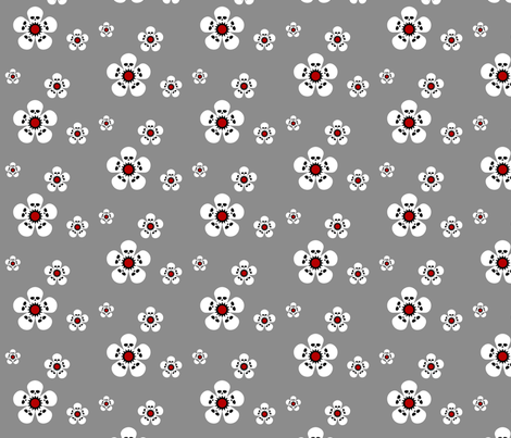 Skulluxe skullblossom fabric by skulluxe on Spoonflower - custom fabric