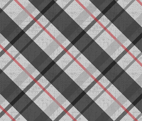 Diagonal Plaid - 1 fabric by owlandchickadee on Spoonflower - custom fabric