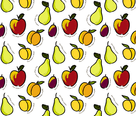 Ceci n'est pas une pomme fabric by jenimp on Spoonflower - custom fabric
