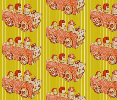 cartoon_car fabric by hollishammonds on Spoonflower - custom fabric