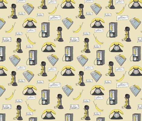 prank calls fabric by babysisterrae on Spoonflower - custom fabric