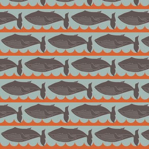 whales_brown and orange