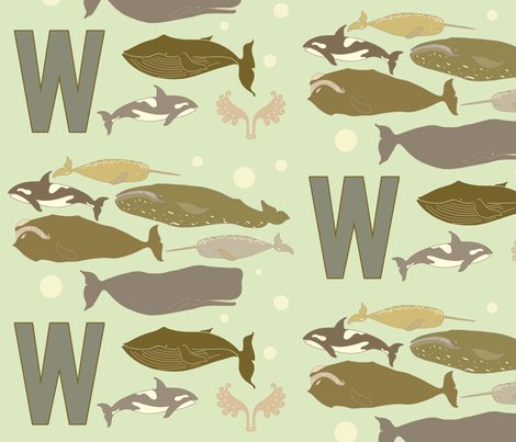 whales_ultima fabric by holli_zollinger on Spoonflower - custom fabric