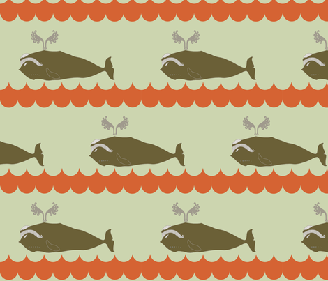 whale_and_spout_and_wave fabric by holli_zollinger on Spoonflower - custom fabric