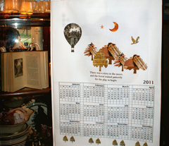 2011 Orchard House Calendar Wall Hanging