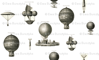 Vintage hot air balloons