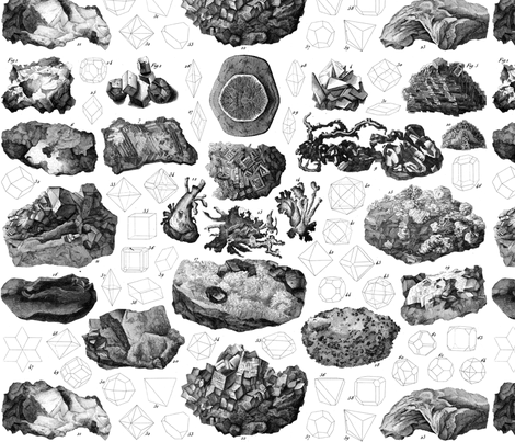Vintage minerals fabric by ravynka on Spoonflower - custom fabric