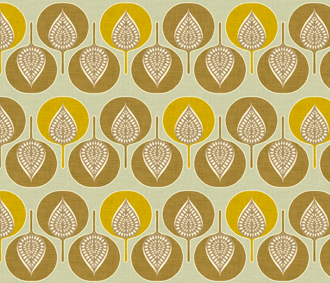 tree_hearts_yellow fabric by holli_zollinger on Spoonflower - custom fabric