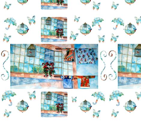 Hong Kong Washline Whimsy fabric by karenharveycox on Spoonflower - custom fabric
