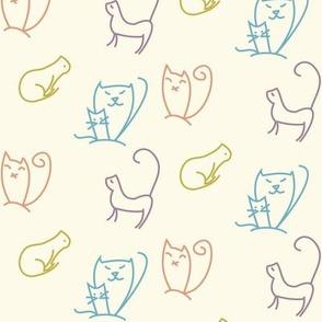 Doodle cats
