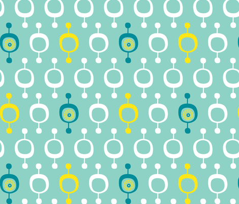 Lantern Aqua fabric by zesti on Spoonflower - custom fabric