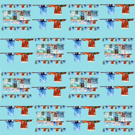 Window Washline Plaid fabric by karenharveycox on Spoonflower - custom fabric