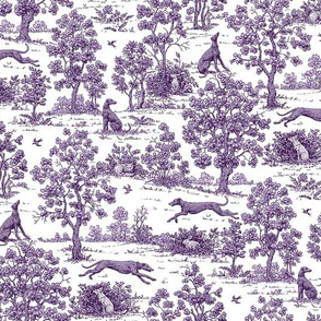 Purple Greyhound Toile ©2010 by Jane Walker