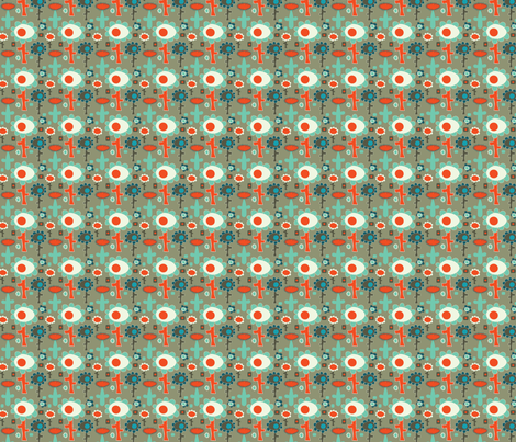 Flowers are Orange fabric by sbd on Spoonflower - custom fabric