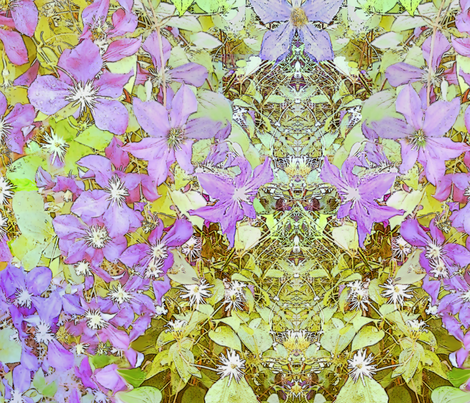 Clematis banner fabric by wren_leyland on Spoonflower - custom fabric