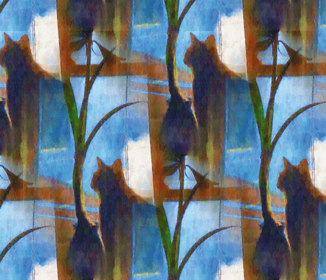 Cat_at_Window_Two fabric by ddmote on Spoonflower - custom fabric
