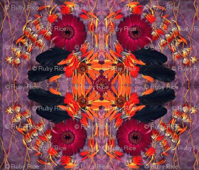 Raven Petal Mandala