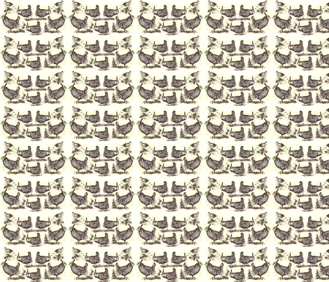 Heath-Hens' Breakfast fabric by robin_rice on Spoonflower - custom fabric
