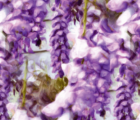 Wisteria_Love fabric by ddmote on Spoonflower - custom fabric