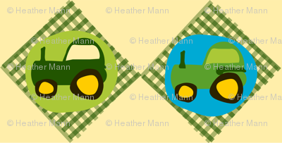 Tractor Gingham