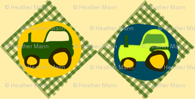 Tractor Gingham 2