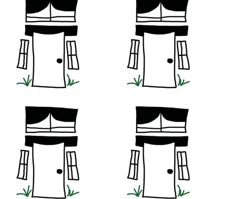 windowsanddoors fabric by charming_birdie on Spoonflower - custom fabric