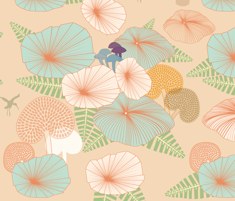 jungle rumble fabric by guapa on Spoonflower - custom fabric