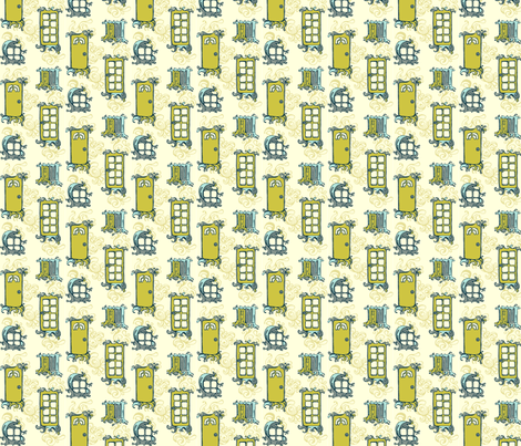 entry pacific olive fabric by delartful on Spoonflower - custom fabric