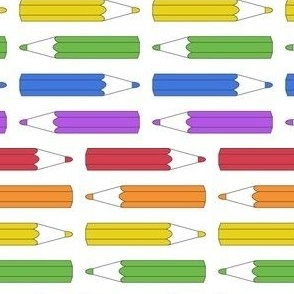 Rainbow pencils