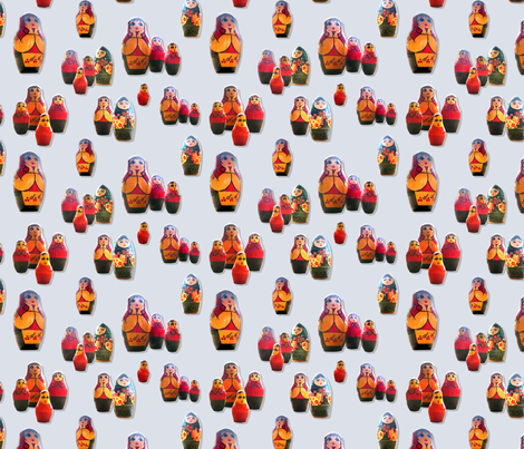 Matrioshkas fabric by ravynka on Spoonflower - custom fabric