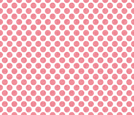 Glitter Dots Pink fabric by cynthiafrenette on Spoonflower - custom fabric