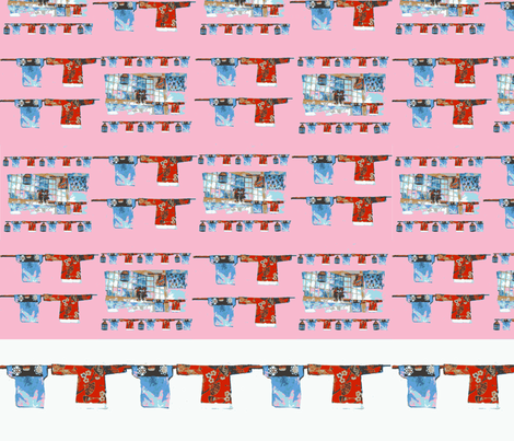 Hong Kong Wash Pink fabric by karenharveycox on Spoonflower - custom fabric