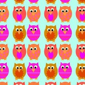 Aqua Hoot Owls