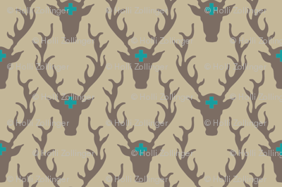 deer_head_tan_turquoise