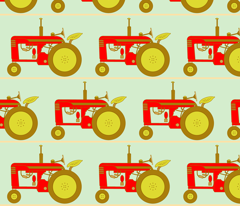 rens_tractor fabric by holli_zollinger on Spoonflower - custom fabric