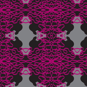 Jan's Bandanna2 gray fuchsia