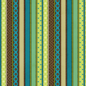 Rough& Tumble Patterned Stripe