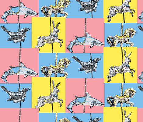 carousel_animals-ch-ch fabric by hollishammonds on Spoonflower - custom fabric
