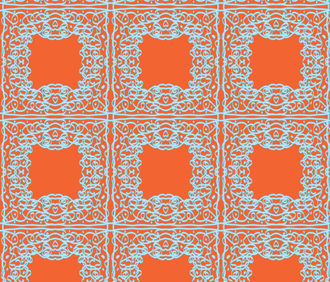 Jan's Summer Air Bandanna1 orange blue fabric by jan4insight on Spoonflower - custom fabric