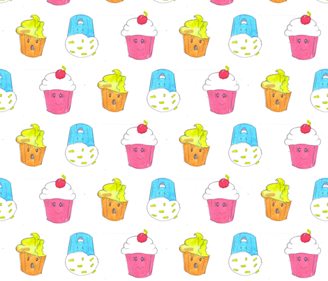 cupcake fabric by namastemama on Spoonflower - custom fabric