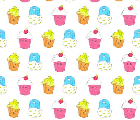 cupcake fabric by namastemama on Spoonflower - custom fabric