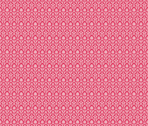 Pink Damask fabric by eskimokissez on Spoonflower - custom fabric