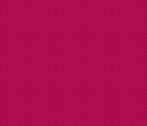 Fuchsia Damask fabric by eskimokissez on Spoonflower - custom fabric
