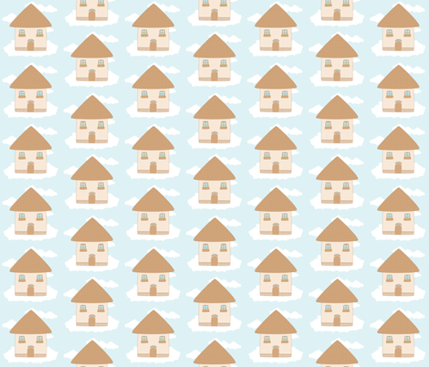 house in the sky fabric by tortagialla on Spoonflower - custom fabric