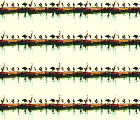 Watching for Breakfast fabric by robin_rice on Spoonflower - custom fabric