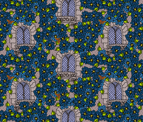 Birds Eye Balcony View fabric by kdl on Spoonflower - custom fabric