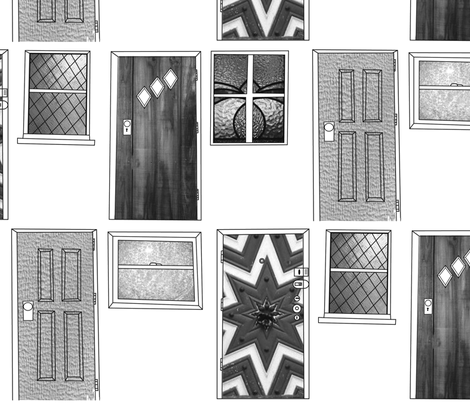doors-n-windows fabric by junej on Spoonflower - custom fabric