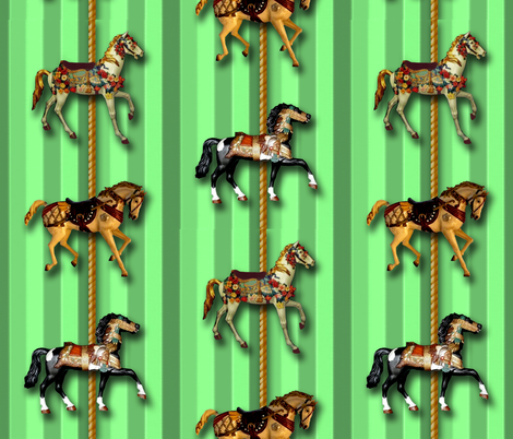 emerald_carousel fabric by hollishammonds on Spoonflower - custom fabric