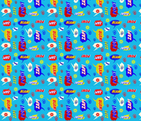 Comic_Pow_ fabric by namastemama on Spoonflower - custom fabric